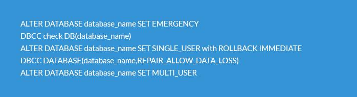 Fix Corrupt SQL Database