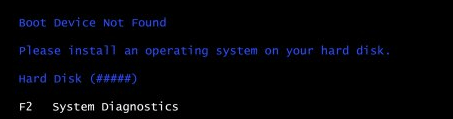How to Fix Boot Device Not Found 3F0 Error?