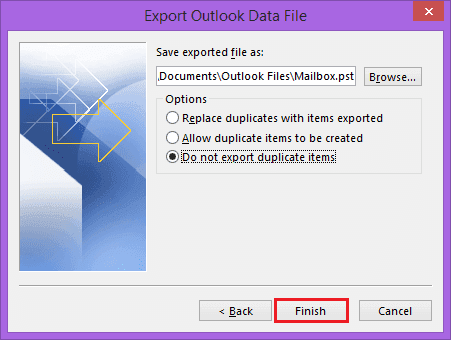Import and Export mailbox data as a PST file