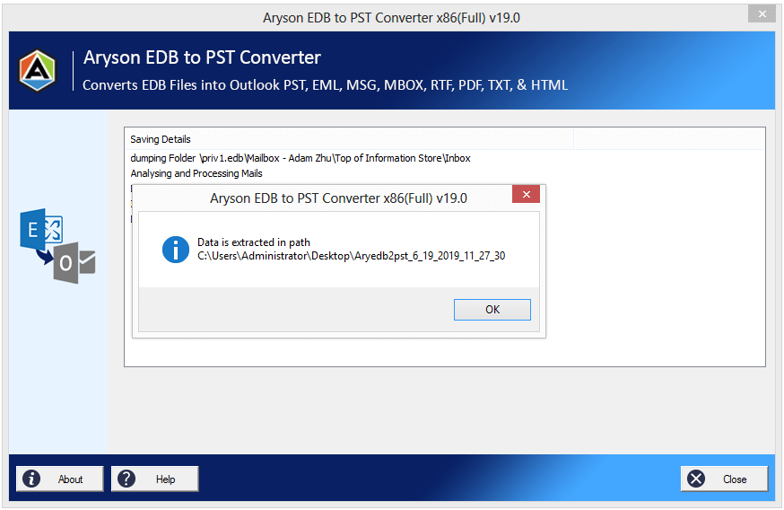 Outlook 2019, 2016 ,2013 EDB to PST conversion software