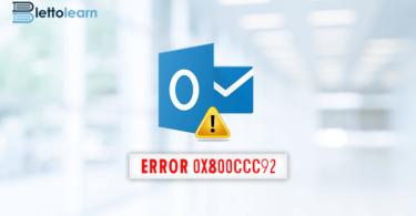 Fix Outlook Error 0x800ccc92