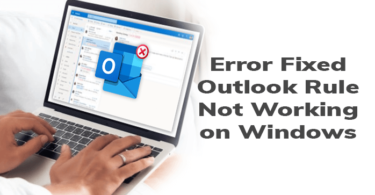 Outlook rule not working